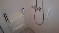 De badkamer na aanpassingen